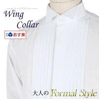 1b89f2d1662f9 PR  ウイングカラーシャツ ダブルカフス ピンタック仕様 ドレ.