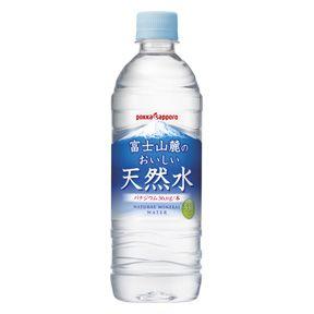 ポッカサッポロ 富士山麓のおいしい天然水 530mlPET 59円x24本セット 1416円