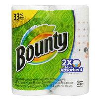 Bountyペーパータオル54シートガーデンプリント2ロール