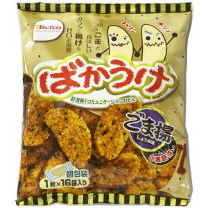 栗山米菓 ばかうけごま揚しょうゆ味 1枚x16袋入