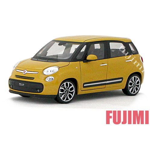 2013 FIAT 500 L yel 1/24 WELLY NEX 3334円【2013,フィアット,ミニカー,黄,チンク,ダイキャストカー 】【コンビニ受取対応商品】