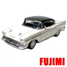 1957 CHEVY BEL AIR wht 1/18 MOTOR MAX 7593円【シボレー ベルエア モーターマックス 白 ミニカー クラシック 】【コンビニ受取対応商品】
