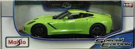 2014 Corvette Stingray Z51 green 1/18 Maisto 【 シボレー コルベット スティングレイ 黄緑 マイスト ダイキャストカー ミニカー スーパーカー アメ車 】【150930】