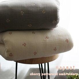 イブル お昼寝バッグ さくらんぼ刺繍 枕、ブランケットは別売りです