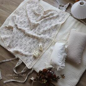 5重ガーゼvintage flower blanket S-size 約70×85cm ヴィンテージブランケット TRICK HOLIC トリックホリック