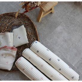 new さくらんぼ刺繍プレミアムキルト miniボルスタークッション(約60×10cm)TRICK HOLIC トリックホリック
