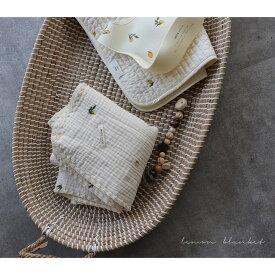 TRICKHOLIC lemon blanket s-size 6重ガーゼブランケットレモンの刺繍 Sサイズ(約70×85cm)TRICK HOLIC トリックホリック