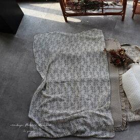 new 2重ガーゼ vintage flower blanket L-size 約140×85cm ヴィンテージブランケット TRICK HOLIC トリックホリック