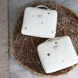 new TRICK HOLIC quilting trunk bag くま/vintage lemon 刺繍キルティングトランクバッグ おむつケース おむつバッグ トリックホリック