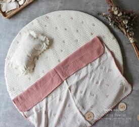 new イブルさくらんぼの刺繍ラウンドマット