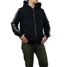 バーバリー BURBERRY ロゴ パーカー ドローストリングフード ジップクロージャー 8029527 A1189 BLACK ブラック メンズ men's bos-03 apparel-01 新品