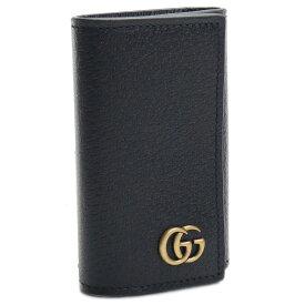 グッチ GUCCI MEN'S GG MARMONT 6連キーケース 435305 DJ20T 1000 ブラック メンズレディース gsm-6