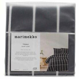 マリメッコ marimekko TIILISKIVI 掛け布団カバー 67583 掛け布団カバー 910 ブラック、ホワイト系 布団カバー