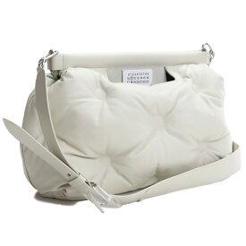 【Maison Margiela】 メゾンマルジェラ 斜め掛けショルダー ブランドバッグ ブランドロゴ S61WG0034 PR818 T2003 GREIGE ホワイト系 bag-01