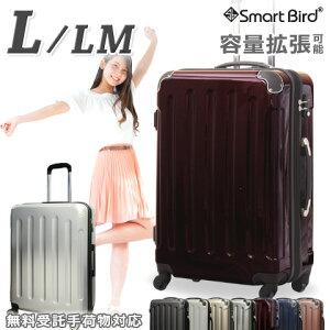 スーツケース キャリーバッグ Lサイズ LM 大型 大容量 LL相当 超軽量 ファスナー 拡張あり 90L&80L級 鏡面 TSAロック キャリーケース キャリーバッグ 旅行カバン 1週間〜 海外旅行 ハード ジッパ