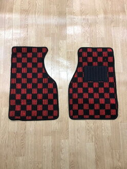 New floor mat check red black / check ash black / check blue black red / black / gray / blue black / ash / parts (domestic) car dirt prevention interior cover-point up to 18 times for exclusive use of car mat Suzuki Cappuccino EA21R EA11R!