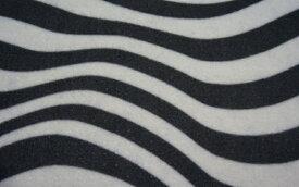 カーマット ダイハツ ウェイク LA700S ウエイク 専用 新品 フロアマット ゼブラ ブラック/ホワイト 黒/白 ウェーブ 波柄 パーツ (国内産) 車 汚れ防止 内装 [送料無料] カバー