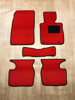 Prevention of new floor mat black / gray / beige / red / wine black / ash / red / plain fabric parts product car dirt interior cover-point up to 18 times for exclusive use of the /DE system of car mat Mazda Demio (DEMIO) DJ origin!