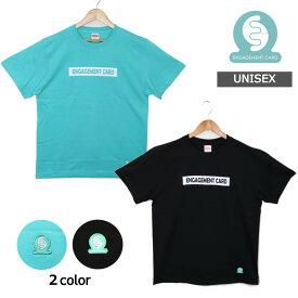 【選べる2色/シンプルロゴデザイン】Tシャツ メンズ レディース ユニセックス ワクワーク オリジナル ブラック グリーン お揃い エンゲージメントカード