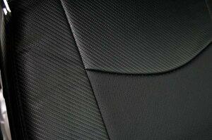 200系ハイエースS-GLパンチングレザーシートカバーカーボン調