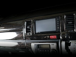 ハイエース200系4型S-GLダークプライム専用黒木目マホガニー調インテリアパネル13P