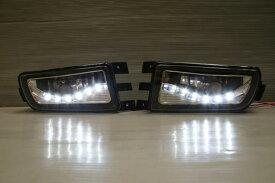 アリスト JZS160 JZS161 LED AUDI R8ルック クリスタルフォグランプ 左右SET