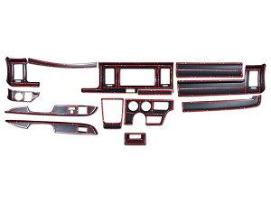 ハイエース200系4型5型DXDX/GLパッケージ専用ダークプライム黒木目マホガニー調インテリアパネル13P
