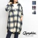 【ポイント10倍】Gymphlex ジムフレックス サーマルインサレーションフリース チェックシャツワンピース J-1449LIS レ…