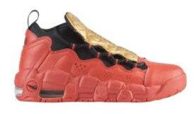 ナイキ ボーイズ/キッズ/レディース スニーカー Nike Air More Money エア モアマネー University Red/Black/Met Gold