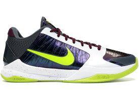 """ナイキ メンズ コービー5 Nike Kobe 5 Protro """"Chaos"""" バッシュ WHITE/CYBER-PURPLE-RED"""