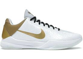 """ナイキ メンズ コービー5 Nike Kobe 5 Protro """"Big Stage/Parade"""" バッシュ WHITE/METALLIC GOLD-BLACK"""