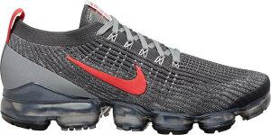 ナイキ メンズ ヴェイパーマックス Nike Air VaporMax Flyknit 3 ランニングシューズ Iron Grey/Particles Grey/Track Red