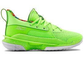 アンダーアーマー キッズ/レディース カリー7 Under Armour Curry 7 GS バッシュ Lime Light/Phosphor Green
