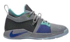 """ナイキ ボーイズ/キッズ/レディース バスケットボールシューズ Nike PG 2 """"Pure Platinum"""" バッシュ ミニバス ポール・ジョージ Pure Platinum/Neon Turquoise/Wolf Grey/Aurora Green"""