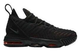 """ナイキ キッズ/レディース Nike LeBron 16 XVI GS """"Fresh Bred"""" バッシュ Black/Black/University Red レブロン16 ミニバス"""