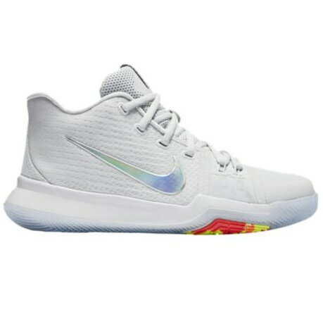 """Nike Kyrie 3 """"Time to Shine"""" キッズ/レディース Pure Platinum/Multi-Color/Volt ナイキ カイリー3 Kyrie Irving カイリー・アービング"""
