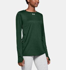 アンダーアーマー レディース ロンT Under Armour Locker 2.0 Long Sleeve Shirt Tシャツ 長袖 Forest Green / White