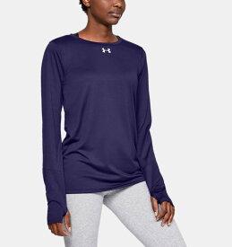 アンダーアーマー レディース ロンT Under Armour Locker 2.0 Long Sleeve Shirt Tシャツ 長袖 Purple / White
