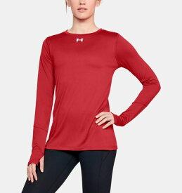 アンダーアーマー レディース ロンT Under Armour Locker 2.0 Long Sleeve Shirt Tシャツ 長袖 Red / White
