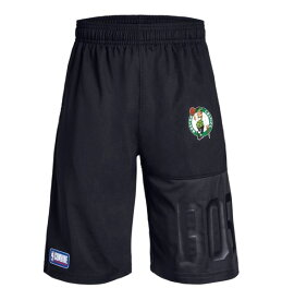 "アンダーアーマー ボーイズ/キッズ ハーフパンツ Under Armour ""Boston Celtics"" NBA Combine Authentic UA Season Shorts バスパン Black"