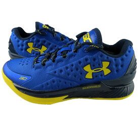 "Under Armour Curry One Low ""Warriors""メンズ Royal/Academy-Taxi アンダーアーマー カリー ウォリアーズ バッシュ"