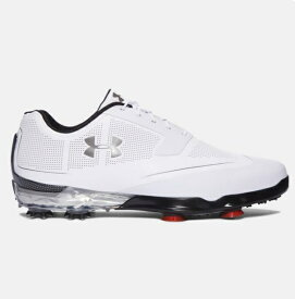 アンダーアーマー メンズ Under Armour Tour Tips Golf Shoes ゴルフシューズ White Metallic Silver