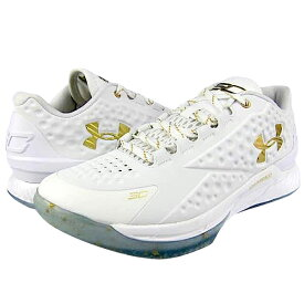 "Under Armour Charged Foam Curry 1 Low ""CHAMPIONSHIP""メンズ White/White/Metallic Gold アンダーアーマー Stephen Curry ステフィンカリー バッシュ"