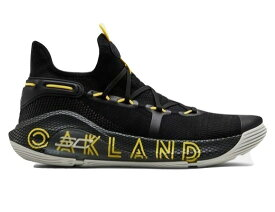 "アンダーアーマー メンズ カリー6 Under Armour Curry 6 VI ""Thank You Oakland"" バッシュ Black/Elemental/Taxi"