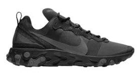 ナイキ メンズ ランニングシューズ Nike React Element 55 スニーカー リアクト Black/Dark Grey