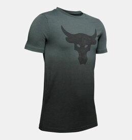 即納 アンダーアーマー キッズ Tシャツ Under Armour Project Rock Bull T-Shirt 半袖 Pitch Gray