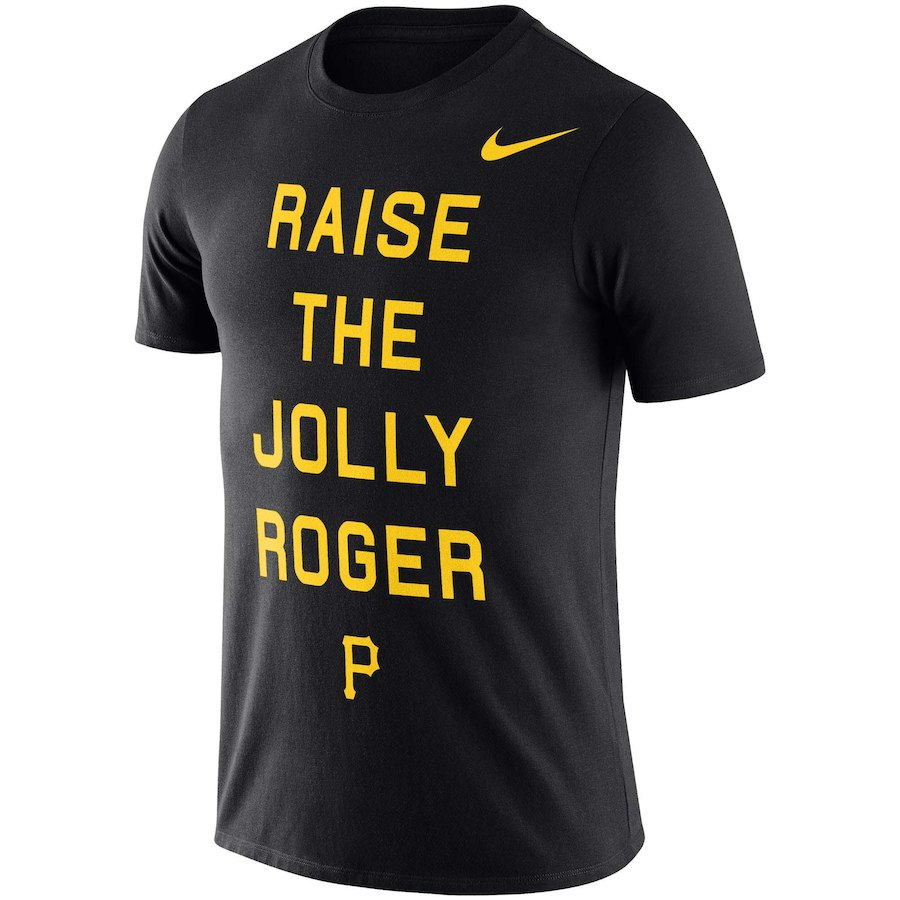 ナイキ メンズ MLB Pittsburgh Pirates Nike Local Phrase Performance T-Shirt Tシャツ 半袖 ドライフィット Black