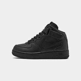 ナイキ キッズ/ジュニア エアフォース1ミッド Nike Air Force 1 Mid PS スニーカー Black