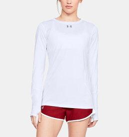 アンダーアーマー レディース ロンT Under Armour Locker 2.0 Long Sleeve Shirt Tシャツ 長袖 White/Graphite