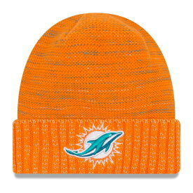 "ニューエラ メンズ ニット帽 ""Miami Dolphins"" New Era NFL 2017 Color Rush Knit Hat 帽子 Orange"